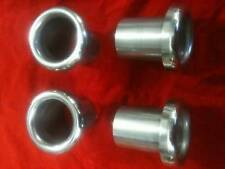 FULL RADIUS ALUMINIUM BIKE CARB THROTTLE BODY TRUMPETS 48MM OD SET OF 4