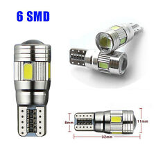 1X T10 6 SMD 501 W5W Car LED Light Bulb ERROR FREE CANBUS Interior Parking Lamp