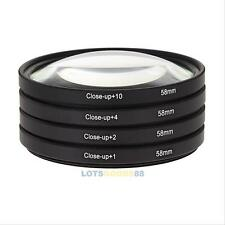 58mm +1 +2 +4 +10 Macro Close Up Lens Filter Kits for Canon 700d 500d Nikon EOS