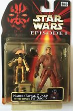 Star Wars Action Figure of NABOO ROYAL GUARD With Bonus DIRTY PIT DROID 3.75""