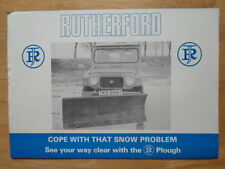 DAIHATSU F20 SERIES 4wd with Rutherford Snow Plough 1978 UK Mkt Leaflet Brochure