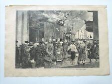 1885 Xilografía: Santiago Coruña La Procesion en la Basilica 25 de Julio último