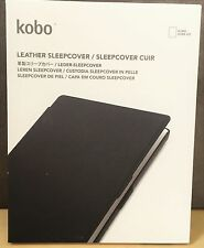NEW, Genuine Kobo N204-KBO-2BK Leather Sleep Cover for AURA HD (Black)