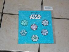 NEW Disney Parks Star Wars Christmas Holiday Snowflake 2016 Pin Pack 6 Pins