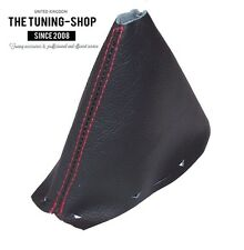 FOR LAND ROVER FREELANDER 2 LR2 06-14 AUTOMATIC GEAR GAITER LEATHER RED STITCH