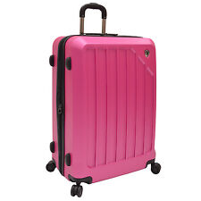 "Travelers Choice Glacier 29"" Hot Pink Lightweight Spinner Hardside Luggage"