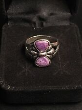 Carolyn Pollack Sterling Charoite Ring Size 8