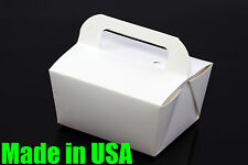 "25x 6"" Handle Take Out / To Go Food Boxes Microwavable Noodles Muffin Bakery"