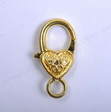 10Pcs Heart Shape Flower Lobster Clasp Hook End Connectors Finding Charms 26MM