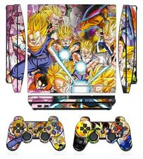 Dragon Ball 272 Skin Sticker Cover PS3 PlayStation 3 Slim and 2 controller skins