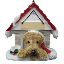 AIREDALE TERRIER  ~ DOGHOUSE  ORNAMENT  ~ #57
