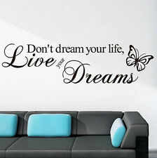 DIY New Removable Quote Word Decal Vinyl Home Room Decor Art Wall StickerBedroom