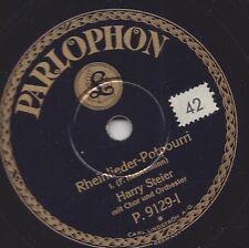 Tenor Harry Steier 1929 mit Orchester : Rheinlieder-Potpourri