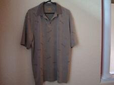 Men's Jos. A. Bank Green w/Palm Tree Theme Tropical Polo Shirt-XL