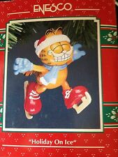 Enesco Garfield Ornament Holiday on Ice In Box ~ Ice Skating