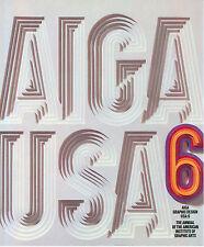 AIGA GRAPHIC DESIGN USA 6 WATSON GUPTILL 1985 ANNUAL AMERICAN INSTITUTE GRAPHIC