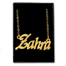 Gold Plated Name Necklace - ZAHRA - Gift Ideas For Her - Designer Anniversary