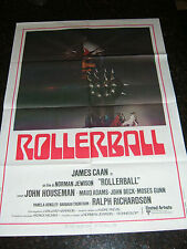 "ROLLERBALL Original 1975 Movie Poster, 39.5"" X 55"", C8.5 Very Fine / Near Mint"