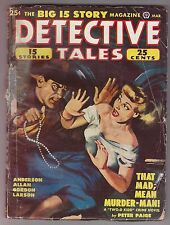 DETECTIVE TALES Mar 1949 Pulp Fiction Peter Paige Talmage Powell Francis Allan
