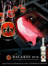 Publicité Advertising 2004  BACARDI RUM  rhum supérieur