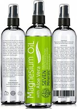 Magnesium Oil With ALOE VERA - LESS ITCHY - Made In USA - FREE E-BOOK - Big - -
