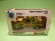 BBURAGO 1:24 - OPEL KADETT GTE RALLY 0129 - IN ORGINAL  BOX   - GOOD  CONDITION
