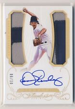 DENNIS ECKERSLEY 2016 Panini Flawless Greats DUAL JERSEY PATCH AUTO 6/10 A'S HOF