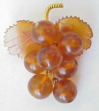 RUSSIA SOVIET USSR BALTIC AMBER GOLD BROOCH SILVER JEWELRY  老琥珀 PIN ORDER MEDAL