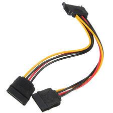15Pin Y Macho a 2 Hembra SATA Cable Alimentación Adaptador Divisor Disco Duro