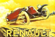 Art poster renault deco voiture imprimé