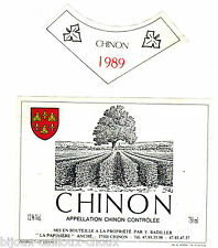 étiquette de vin CHINON 1989 wine label