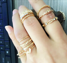 5/9/12pcs Girls Above Knuckle Vintage Finger Rings Retro Rings Gift Jewelry