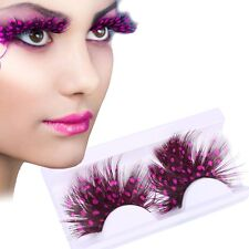 Fashion Art Scene Exaggeration Spots Feather Girl Makeup Cosplay False Eyelashes