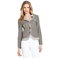 BNWT Joe Browns Tremendous Ticking Stripe Embroidered Button Blazer Jacket 18