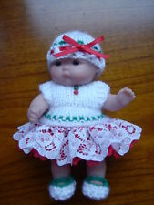 HAND KNITTED DOLLS CLOTHES  for 5 INCH BERENGUER ~~ NEW ~~