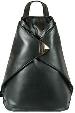 NEW VERY STYLISH VISCONTI BLACK SOFT LEATHER BACKPACK RUCKSACK BAG