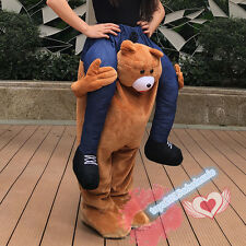 Teddy Bear Carry Me Ride On Piggy Back Mascot Costume Adults party Fancy Dress A