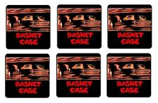BASKET CASE BEVERAGE COASTERS - 1/4 BAR & BEER SET OF 6 RETRO MOVIE