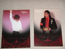 Michael Jackson - No 40 & 102 - 2 Panini Trading Cards 2011 *RARE* aus USA