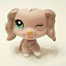 Littlest Pet Shop Purple Winking Cocker Spaniel Green Eyes Dog #1373 LPS  Hasbro