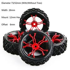 Set of 4 Tyre&Wheel Rim MPNKR+PP0487 For HSP RC 1:10 Rally Racing Off Road Car