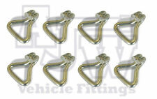 8 Steel Wire Claw Hook 50mm 5 Ton Webbing Ratchet Strap Truck Trailer Recovery