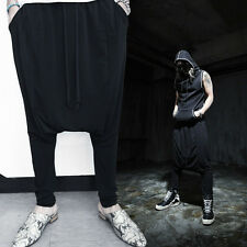 ByTheR Men's Cotton Urban Outfit Black One Size Dar Gothic Baggy Skirt Pants  AU