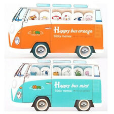 FD2519 Bus Sticker Post It Bookmark Index Tab Memo Sticky Note 180 Pages 1pc ☆