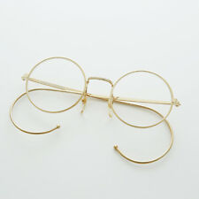 Round Lennon Spectacle Vintage Glasses with Cable Temples NOS Gold - RUDY
