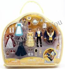 Disney Parks Princess Belle Beauty & Beast Deluxe Fashion Play Set & Case