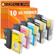 10 Druckerpatronen XXL für Brother DCP-145C MFC-250C MFC-255CW MFC-290C LC980
