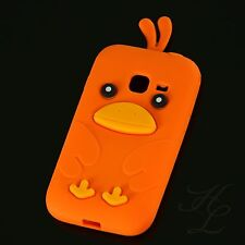 Samsung Galaxy Ace Duos S6802 Silikon Case Schutz Hülle Etui Chicken Orange 3D