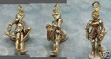 14k gold vintage KNIGHT IN SHINING ARMOR charm