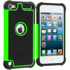 For Apple iPod Touch 6th Generation 6G Shockproof Hard Hybrid Case Cover Green